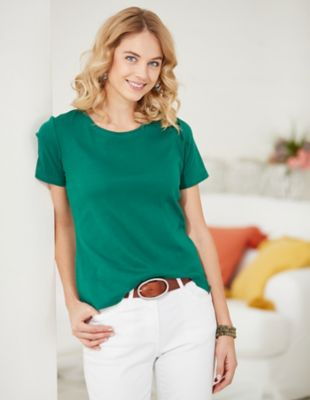 Deerberg Jersey-Shirt Freida jaspisgrün