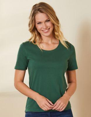 Deerberg Jersey-Shirt Freida zederngrün