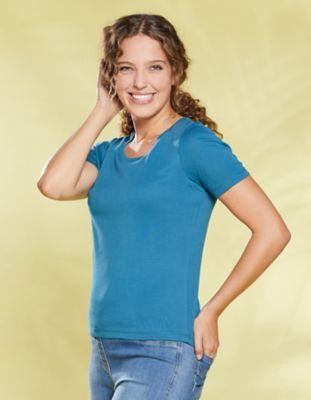 Deerberg Jersey-Shirt Freida korsarenblau