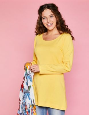 Deerberg Jersey-Shirt Elenai mimosengelb