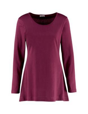 Deerberg Jersey-Shirt Elenai aubergine