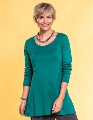 Deerberg Jersey-Shirt Elenai jaspisgrün