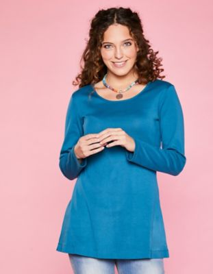 Deerberg Jersey-Shirt Elenai korsarenblau