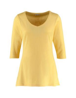 Deerberg Jersey-Shirt Chrissa mimosengelb