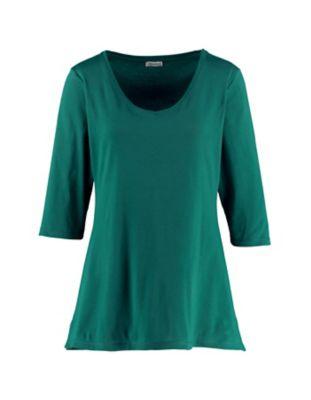 Deerberg Jersey-Shirt Chrissa jaspisgrün
