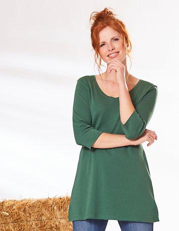 Deerberg Jersey-Shirt Chrissa zederngrün