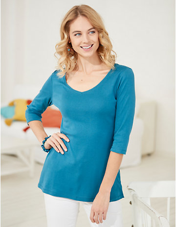 Deerberg Jersey-Shirt Chrissa korsarenblau