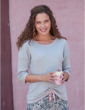 Deerberg Jersey-Shirt Roselia grau-melange