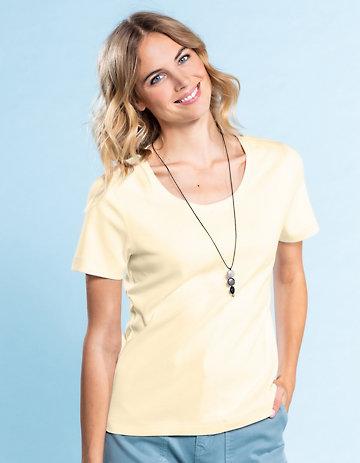 Deerberg Jersey-Shirt Hasine zitronenschale