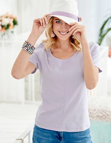 Deerberg Jersey-Shirt Hasine lavendelblüte
