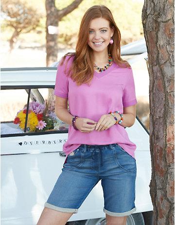 Deerberg Jeans-Shorts Varah mid-denim
