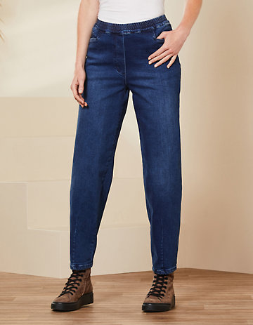 Deerberg Relaxed-Fit-Jeans Maija dark-denim