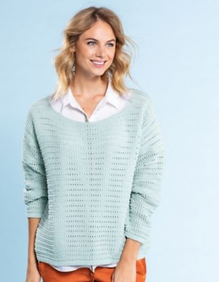 Deerberg Ajourstrick-Pullover Geertja pastellmint