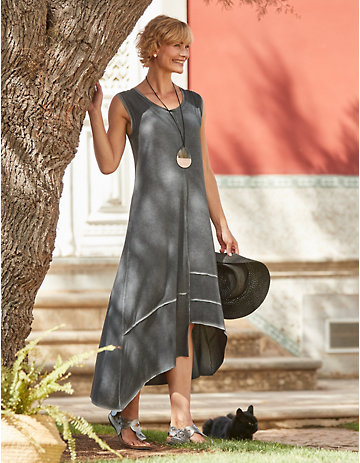Deerberg Jersey-Kleid Samera anthrazit-washed