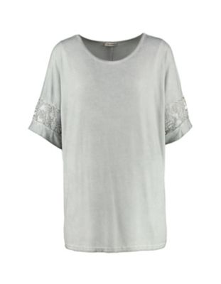 Deerberg Jersey-Shirt Natassja grau-washed