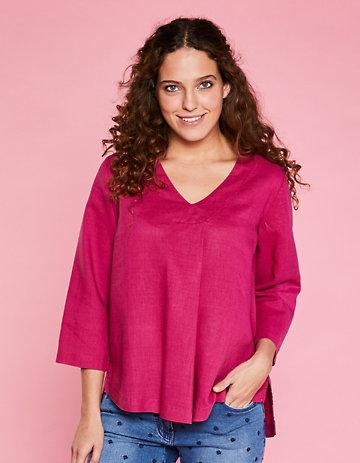 Deerberg Leinen-Bluse Maitee pink