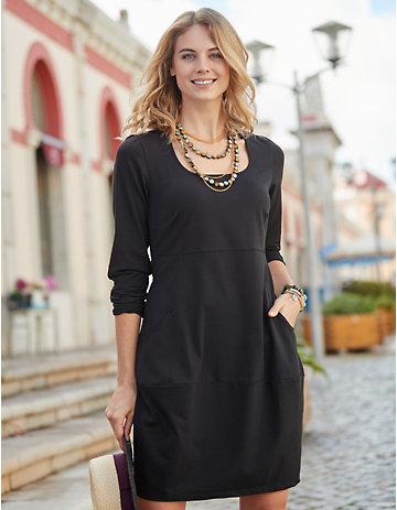 Deerberg Jersey-Kleid Eleora schwarz