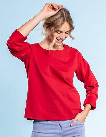 Deerberg Sweat-Shirt Kelia rot