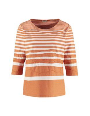 Deerberg Jacquardjersey-Shirt Rajka aprikose-gesteift