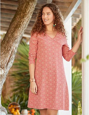 Deerberg Jersey-Kleid Fernande nelkenrot