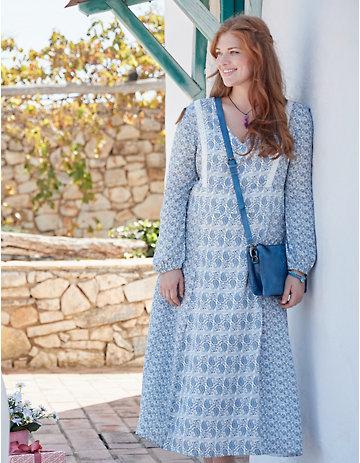Deerberg Kleid Hedda cremeweiß-indigo
