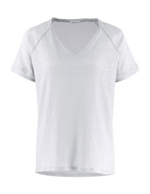 Deerberg Leinenjersey-Shirt Nanon weiß