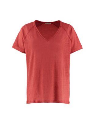 Deerberg Leinenjersey-Shirt Nanon nelkenrot