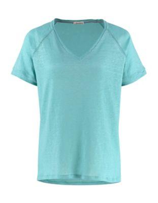 Deerberg Leinenjersey-Shirt Nanon aqua