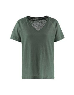 Deerberg Leinenjersey-Shirt Nanon algengrün