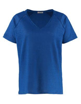 Deerberg Leinenjersey-Shirt Nanon ritterspornblau