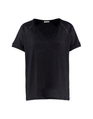 Deerberg Leinenjersey-Shirt Nanon anthrazit