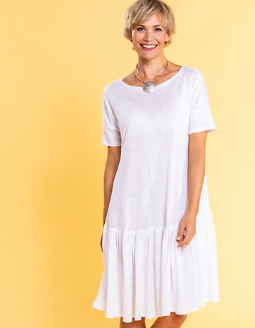 Deerberg Leinenjersey-Kleid Kainda weiß
