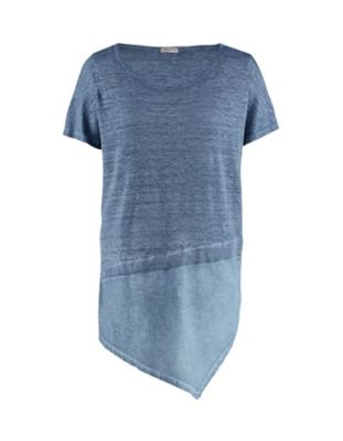 Deerberg Leinenjersey-Shirt Ederna indigo-washed