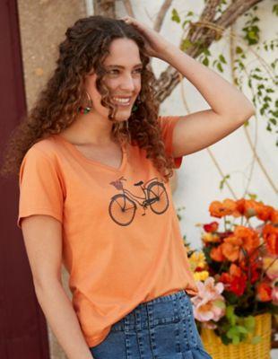 Deerberg Jersey-Shirt Fayola aprikose