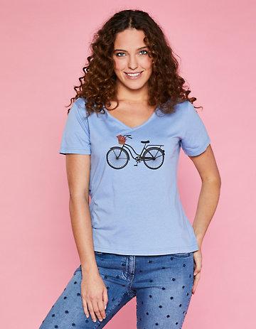 Deerberg Jersey-Shirt Fayola puderblau