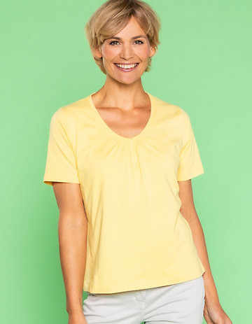 Deerberg Jersey-Shirt Taalke sonnengelb