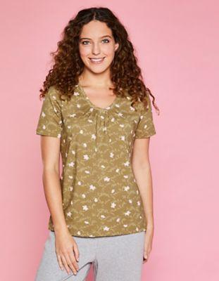 Deerberg Jersey-Shirt Taalke heugrün-bedruckt