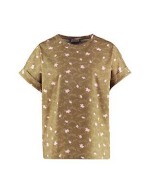 Deerberg Jersey-Shirt Rosika heugrün-bedruckt