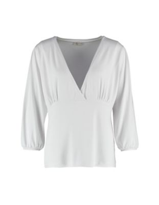Deerberg Jersey-Shirt Anjuta weiß