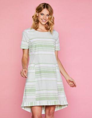 Deerberg Kleid Fentje grasgrün-gestreift