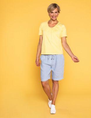 Deerberg Leinen-Shorts Phillis puderblau