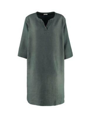 Deerberg Leinen-Kleid Claudina algengrün