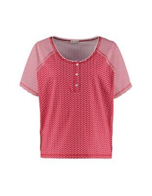 Deerberg Jersey-Shirt Ranka rot-bedruckt