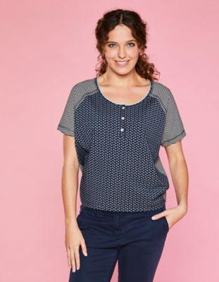 Deerberg Jersey-Shirt Ranka marine-bedruckt
