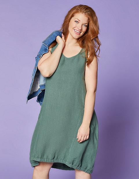 c5189fb2193 Leinen-Kleid Ricarda von Deerberg in grün