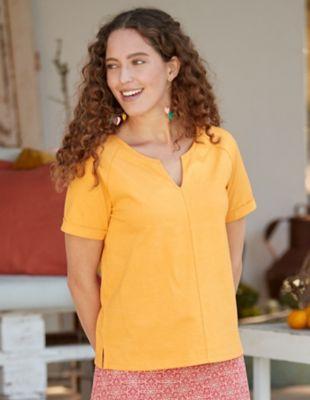 Deerberg Jersey-Shirt Marlea butterkeks-melange