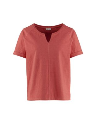 Deerberg Jersey-Shirt Marlea nelkenrot-melange