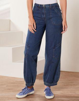 Deerberg Relaxed-Fit-Jeans Babette Bio dark-denim