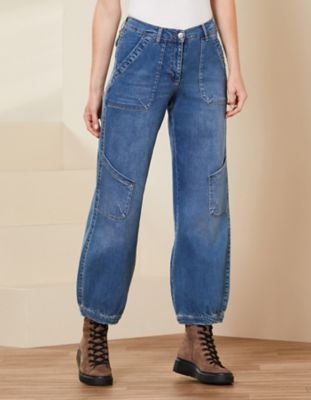 Deerberg Relaxed-Fit-Jeans Babette Bio blue-used