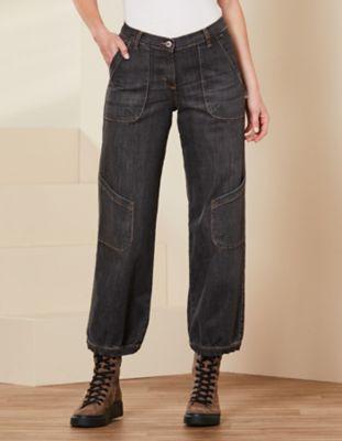 Deerberg Relaxed-Fit-Jeans Babette Bio black-denim